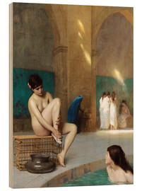 Wood print  Women at the Roman baths - Jean Leon Gerome