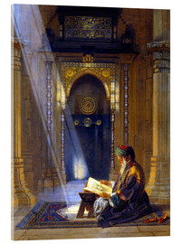 Acrylic print  In the Mosque - Carl Friedrich Heinrich Werner
