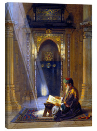 Canvas  In the Mosque - Carl Friedrich Heinrich Werner
