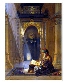 Premium poster  In the Mosque - Carl Friedrich Heinrich Werner