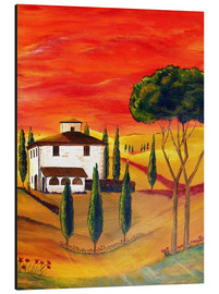 Aluminium print  Warmth of Tuscany - Christine Huwer