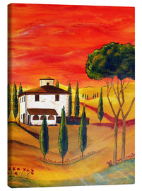Canvas print  Warmth of Tuscany - Christine Huwer