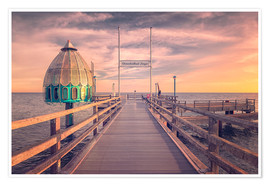 Premium poster  Diving bell at pier Zingst (Darss/Baltic Sea) - Dirk Wiemer