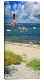 Canvas print  Little harbor at the lighthouse - Monika Jüngling