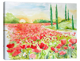 Canvas print  Field of poppies - Maria Földy