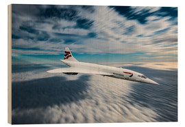 Wood print  Concorde - Paul Heasman