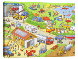 Canvas  Cars search and find: In the countryside - Stefan Seidel