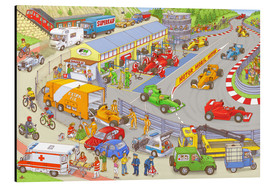 Aluminium print  Cars search and find picture: race track - Stefan Seidel