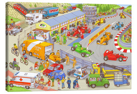 Canvas  Cars search and find picture: race track - Stefan Seidel