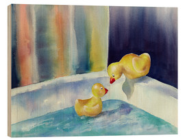 Wood print  Rubber ducks - Jitka Krause