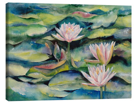 Canvas print  Lotus flowers - Jitka Krause