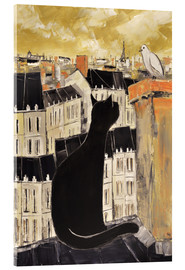 Acrylic print  Cat and dove in Paris - JIEL