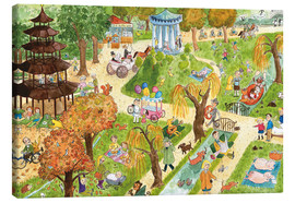 Canvas print  Munich: English Garden - Annegret Reimann