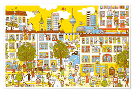 Premium poster  Berlin Search and Find by Judith Drews - Judith Drews