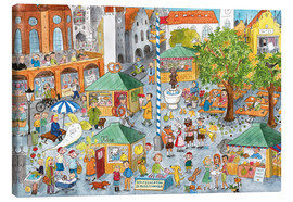 Canvas print  Hidden object poster, Market in Munich - Annegret Reimann
