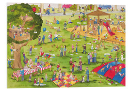 Foam board print  Learn and laugh, hidden object: on the playground (German) - Katherina Lindenblatt