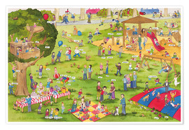 Premium poster  Learn and laugh, hidden object: on the playground (German) - Katherina Lindenblatt