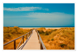 Premium poster  way to the beach - Tarifa (Andalusia), Spain - gn fotografie