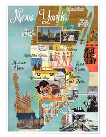 Premium poster  New York Collage - GreenNest