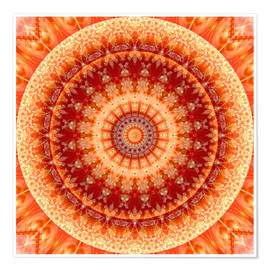 Premium poster  Mandala Joy of Living - Christine Bässler