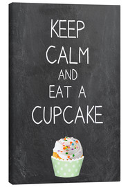 Canvas print  Keep calm and eat a cupcake - GreenNest