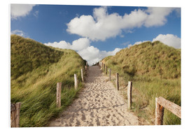 Foam board print  Sylt, path through dunes - Markus Lange