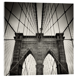 Acrylic print  Brooklyn Bridge, New York City - Alexander Voss