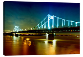 Canvas print  Bridge over River Rhine - Daniel Heine