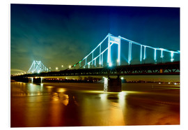 Foam board print  Bridge over River Rhine - Daniel Heine