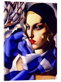 Acrylic glass  The blue scarf - Tamara de Lempicka