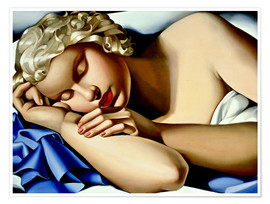 Premium poster  The Sleeping Girl (Kizette) - Tamara de Lempicka