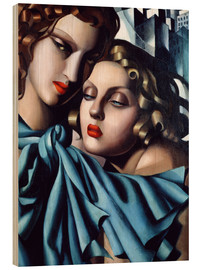 Wood print  The girls - Tamara de Lempicka