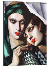 Aluminium print  The green turban - Tamara de Lempicka