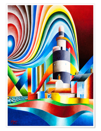 Premium poster lighthouse hooks head I