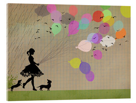 Acrylic glass  girl with balloons - Elisandra Sevenstar