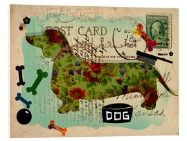 Foam board print  Greetings from the Dachshund - Elisandra Sevenstar
