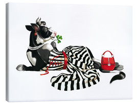 Canvas  glamour cow 2 - Tanja Doronina