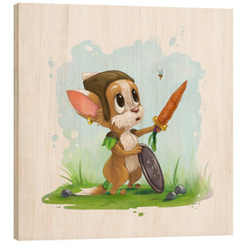 Wood print  My little hero - Alexandra Kreipl
