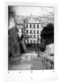 Acrylic glass  Paris - Montmartre - ARTSHOT - Photographic Art