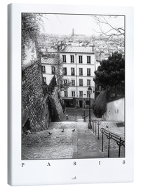 Canvas  Paris - Montmartre - ARTSHOT - Photographic Art