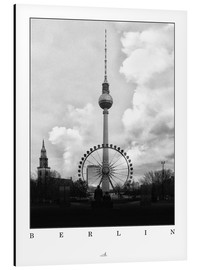 Aluminium print  Berlin - Television Tower - ARTSHOT - Photographic Art