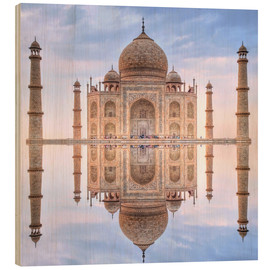 Wood print  The Taj Mahal - HADYPHOTO
