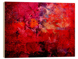 Wood print  Enlightened red - Wolfgang Rieger