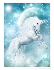 Premium poster  Unicorn on my way - Dolphins DreamDesign