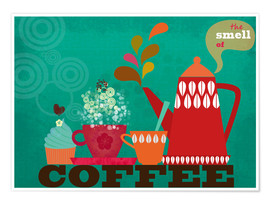 Premium poster  The smell of coffee II - Elisandra Sevenstar