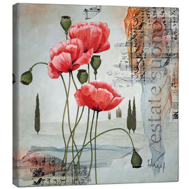 Canvas print  Poppies - Franz Heigl