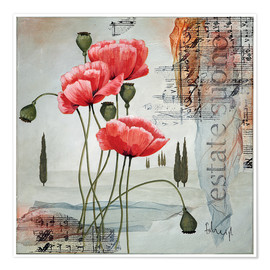 Premium poster   Poppies  - Franz Heigl