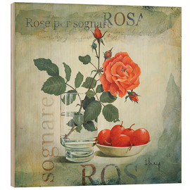 Wood print  Dream Rose - Franz Heigl
