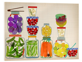 Acrylic glass  Bottled pickles and fruits - Elisandra Sevenstar