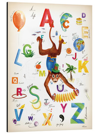 Aluminium print  ABC Alphabet animals, colours and more - Heike Udes